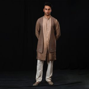 Long jacket with kurta