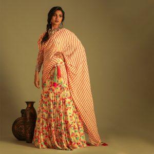 Printed Drape Saree
