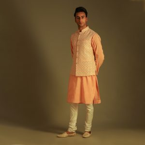 Lucknowi kurta jacket set