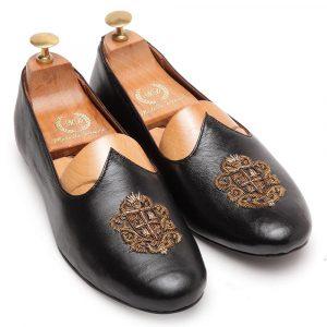 Leather Zardozi Juttis