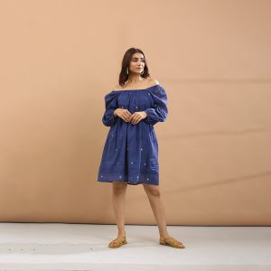 Square neck short dress