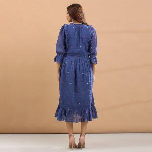 Blue base frill dress