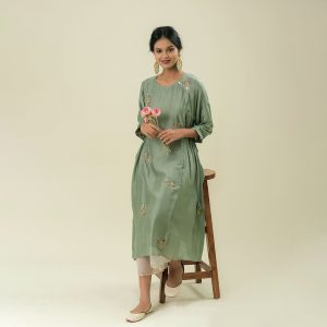 Hand Embroidery Cotton Silk Set With Latkan Detailing Set of 2
