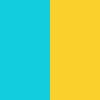 Coral blue & Yellow
