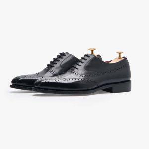 Kinsale Black Brogue Shoes