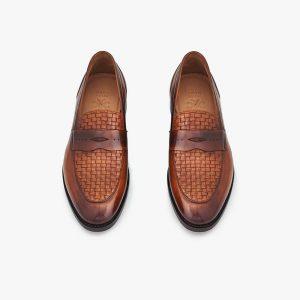 Abbey Woven Vamp Dual Brown Men's Slip-On