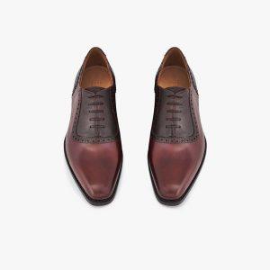Peck-Ham Dark Brown Oxford Shoes