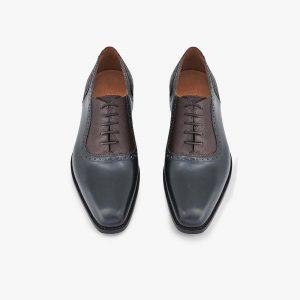 Peck-Ham Blue Brown Oxford Shoes
