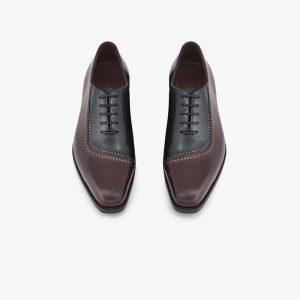 Repton Black Brown Oxford Shoes